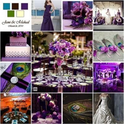 Peacock Themed Wedding - Purple Themed Wedding