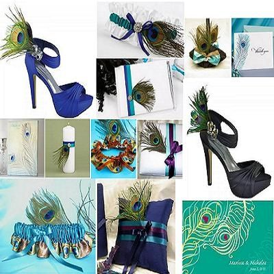 Peacock Themed Wedding - Peacock Teal Wedding Accessories