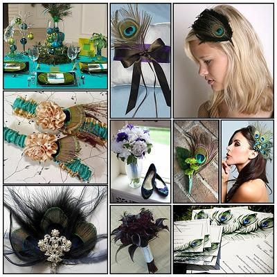 Peacock Themed Wedding - Bride's Accessories