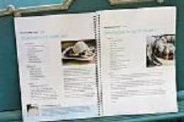 Recipe Book Open to Recipes