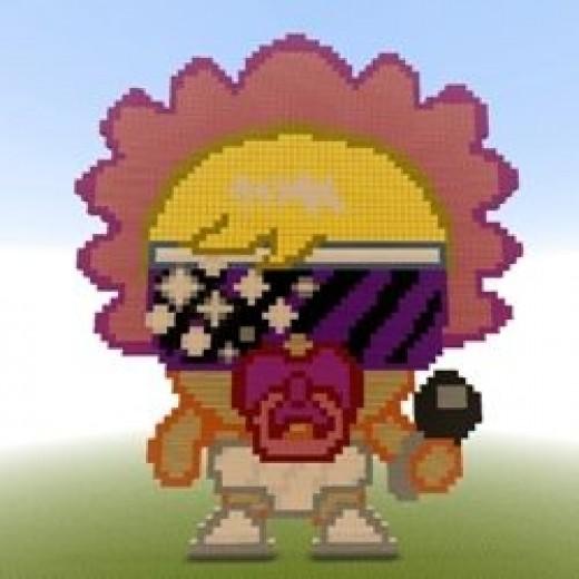 Lady Goo Goo Minecraft Pixel art by Dave French