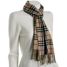 Burberry cashmere fringe scarf