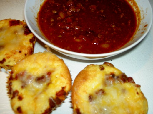 Chili and cornbread. Save leftovers for chili dogs!