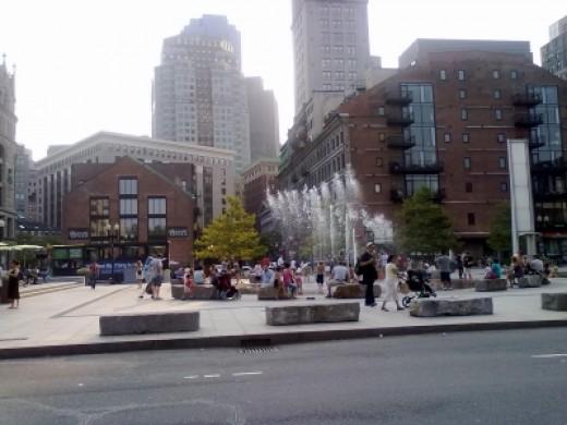 Rings Fountain at Atlantic Ave