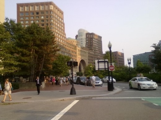 Boston Harbor Hotel exterior at Rowes Wharf