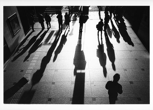 Wonderful picture of just how powerful light and shadow can be in black and white.