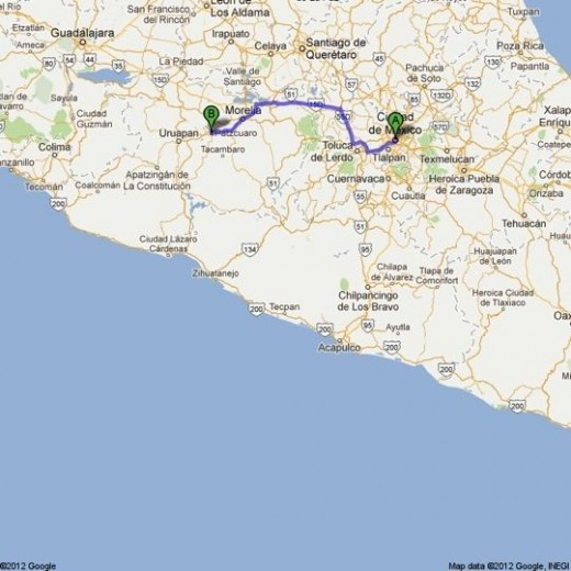 To Patzcuaro from Mexico City