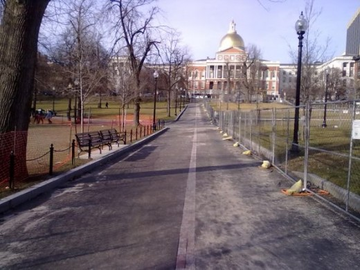 View to State House from Boston Common