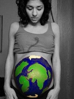 She's got the whole world in her hands.