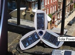 Solio. The solar power charger. Use it to charge your phones and ipods.