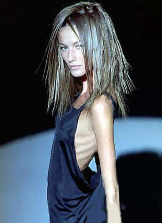 anorexic model unbelievably skinny on stage dying