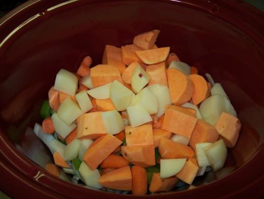 Third Layer: Potatoes