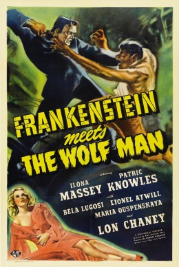 Frankenstein meets The Wolf Man combined two of Universal's monster franchises. In the films that followed they would be joined by Dracula and Abbott & Costello.