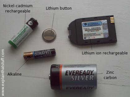 Different kind of batteries