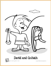 David and Goliath | Bible Coloring Page