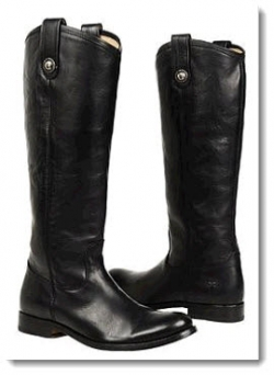 Frye Melissa Button Boot - Black Vintage Leather