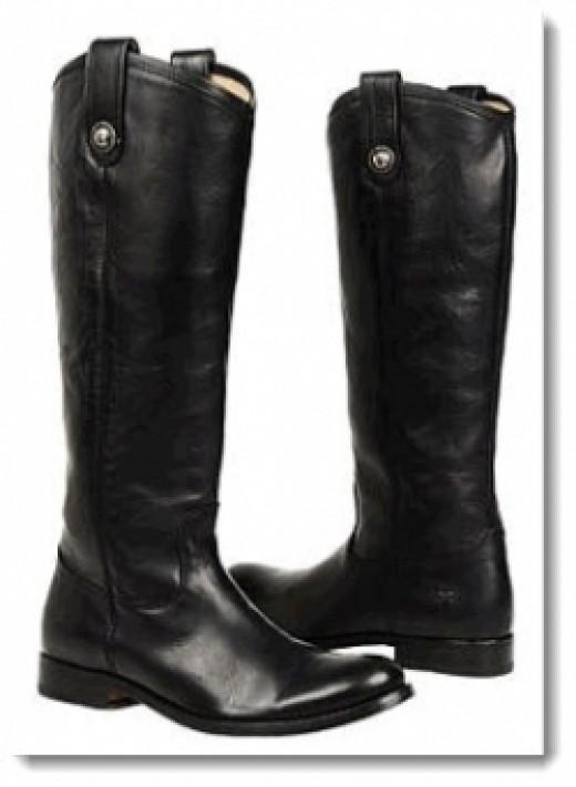 Frye Melissa Button Boot - Black Vintage Leather