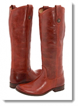 Frye Melissa Button Boot - Burgundy Brush Off