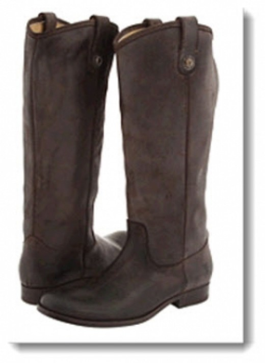 Frye Melissa Button Boot - Dark Brown Waxy Suede