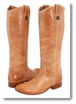 Frye Melissa Button Boot - Natural Brush Off
