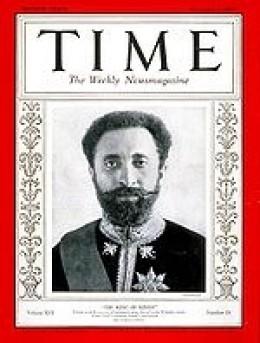 Haile Selassie in Time magazine, 1930