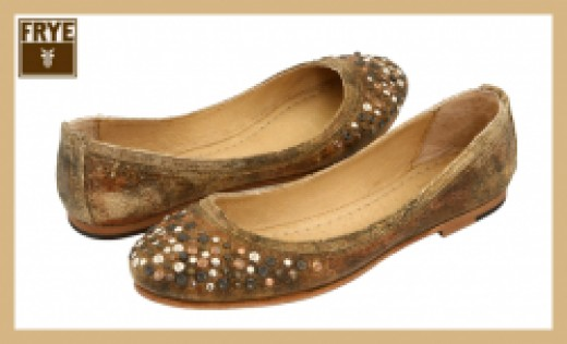 Frye Carson Studded Ballet Shoes
