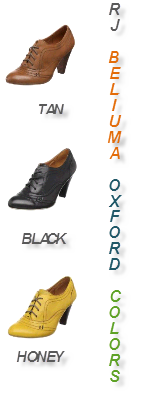 RJ Girl Belliuma Black Oxford Women's Shoes - Colors