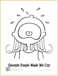 georgie porgie coloring page