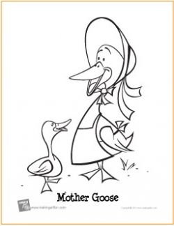 Mother Goose Coloring Page