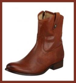 Frye Melissa Button Short Boot - Cognac