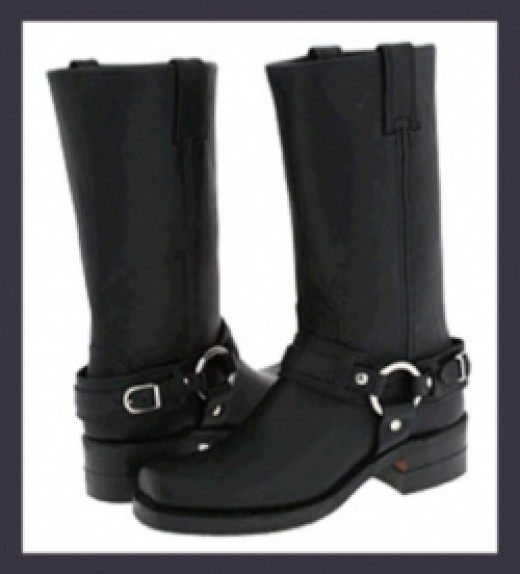 Frye Womens Motorcycle Boots - Harness Belted 12R