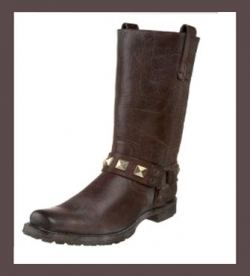 Frye Womens Motorcycle Boots - Heath Studded Harness Boot