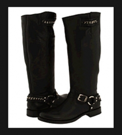 Frye Womens Motorcycle Boots - Jenna Chain Tall Boot