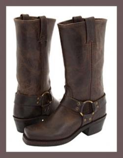 Frye Women's Harness 12R Boots - Smoke
