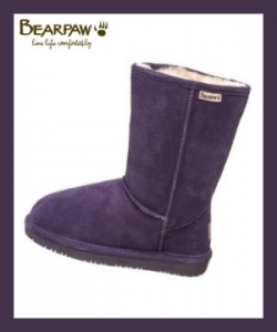 Bearpaw Emma Boots In Eggplant Color
