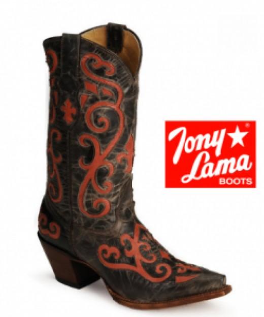 Tony Lama Vaquero Red Inlay Boots