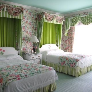 This was such a sweet room overlooking the lake and bridge.