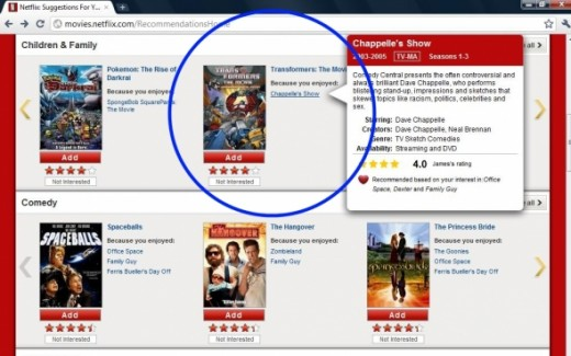 (c) 2011 Netflix, Inc. and associated copyright holders  http://www.netflix.com and