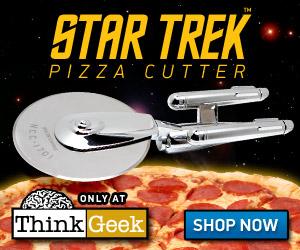The Star Trek Enterprise Pizza Cutter! A ThinkGeek Exclusive (c) 2010 ThinkGeek.com