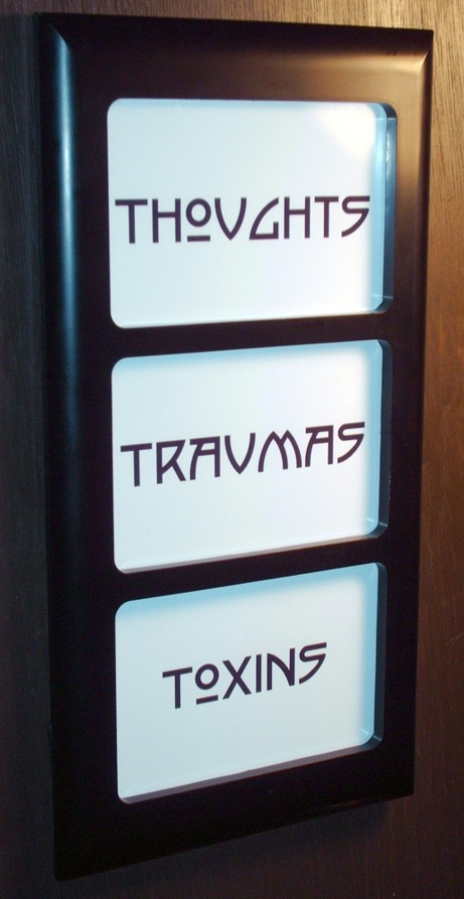 The 3 T's: Thoughts, Traumas, and Toxins. This is affordable chiropractic art with a purpose!