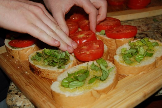 Bobby's secret is using thick slices of tomato and plenty of them!