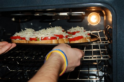Baking and then broiling is Bobby's last secret to his Scrumptious Bruschetta!
