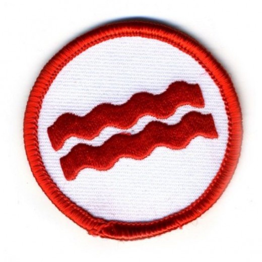 "For every Boyscout or should I say ""Bacon Scout"" for their efforts in Bacon appreciation. By Abeanpie on Etsy."