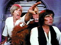 Some of the main characters from the Star Wars Parody film, Hardware Wars.  http://en.wikipedia.org/wiki/File:Hardware_Wars.jpg Used under the Non-Free Fair Use Rationale (See link)