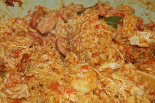Cajun Jambalaya Stew with Chicken, Shrimp and Sausage
