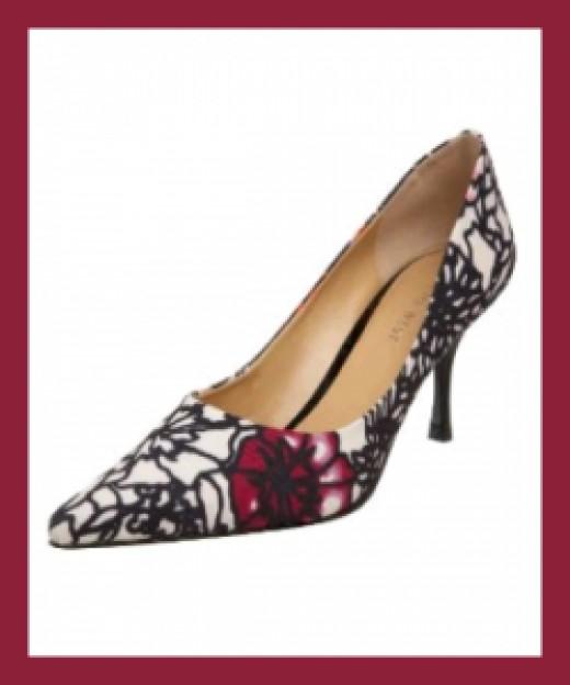 Nine West Nuncio Pump Shoes On Sale - BLACK-WHITE
