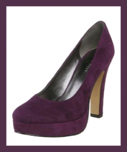 Nine West Ample Pump Shoes On Sale - DARK-PINK-SUEDE