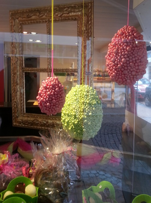 Different colorful Easter Decorations in all stores.