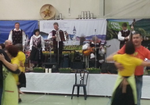 After the Cultural Program: dance evening with the Music Group of France Mihelic