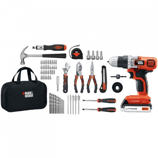 Black & Decker LDX120PK Lithium Drill and Project Kit